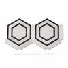 Century Mosaic White Thassos Mix Milano Gray Hexagon White Marble Mosaic