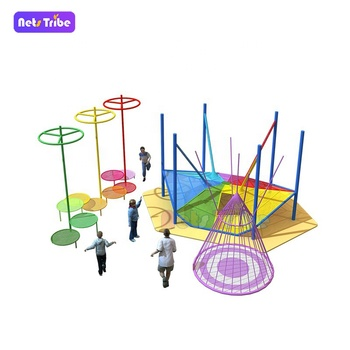Binzhou crochet colorful polyester fibre climbing net indoor amusement playground -spiderweb for children