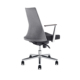 Grey executive rolling ergonomic pu leather office chair