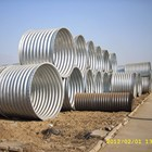 Fittings Accessories hot dip round flexible galvanized corrugated steel culvert pipe