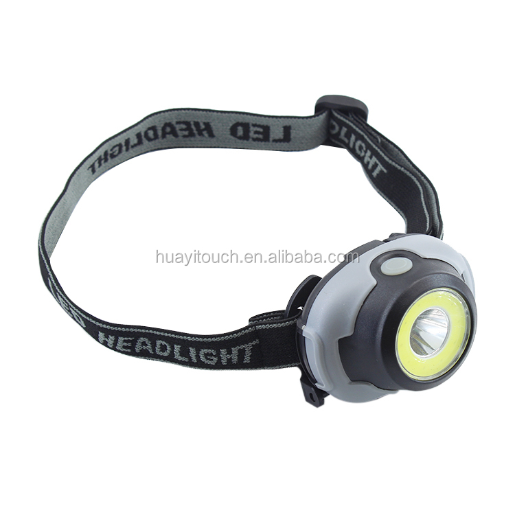 3AAA Battery Cheap Price 300 Lumens LED Hunting Headlamp COB