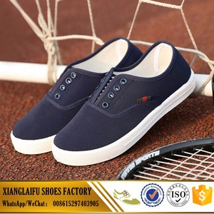 Wholesale Women canvas shoes for PVC injection shoes lace-up casual sheos with lower price
