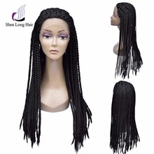 Wholesale Cheap 100% Kanekalon Fiber Synthetic Braid Wigs style