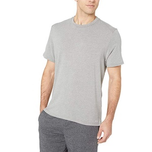 Wholesale Men's Performance Cotton Short-Sleeve T-Shirt Heather grey t shirts K-27