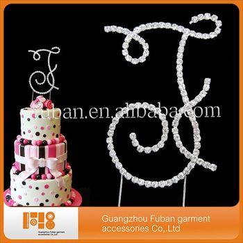 Hot Sale Letter F Design Wedding Cake Topper