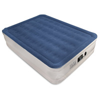 Comfortable and Durable Flocking Queen Size Self Inflating Air Mattress Bed
