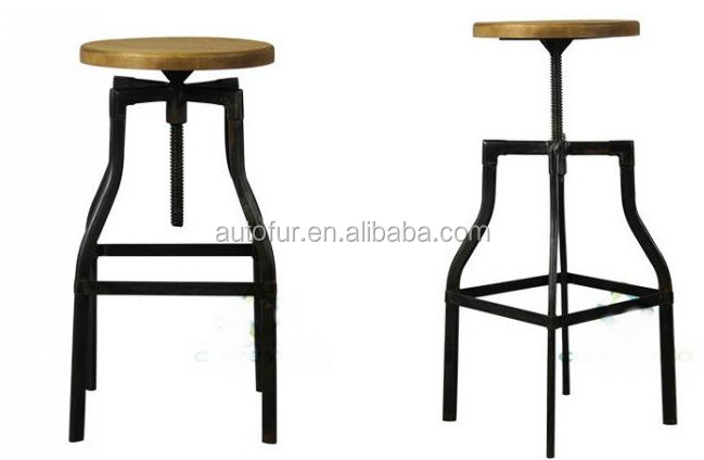 Round Pine wood Seat Black Industrial vintage Turner Swivel bar Stool  sc 1 st  Alibaba & Round Pine Wood Seat Black Industrial Vintage Turner Swivel Bar ... islam-shia.org