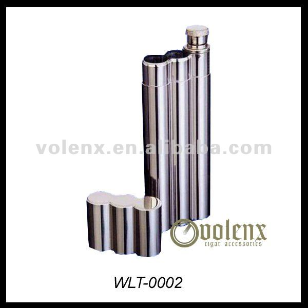 Stainless Steel Cigar Tube/ Flask with Cap