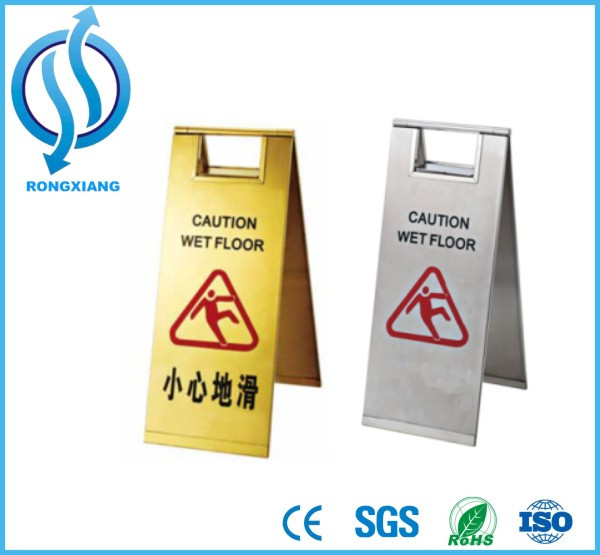 yellow safety caution wet floor sign/plastic flooring for wet areas 610*300*300MM