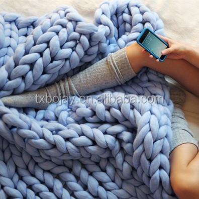 Giant mantas de lana merino para tejer a mano hilo de - Tejer mantas de lana ...