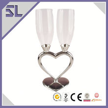 Special Elegant Decorated for Wedding Champagne Glasses Made in China