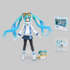 Japan anime Max Factory Figma Snow Miku 2016 Snow owl ver. EX-030 Miku 14cm toy action figure