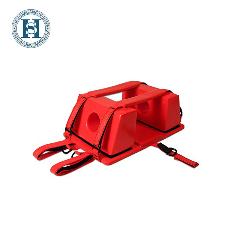 NBR red X-Ray MRI medical rescue head immobilizer for spine board