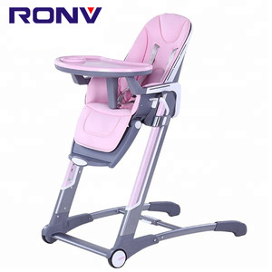 2018 new Eco-friendly plastic folding adjustable dining sitting baby feeding chair for kids