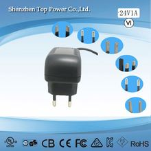 wall mounted 24w industrial power supply 5v 6V 9v 1.5A 1A 2A 3A 6A for wireless recevier, modem,CCTV camera,LED monitor