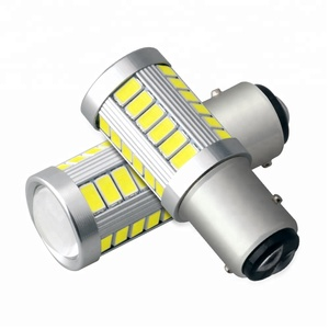 white motorcycle automotive led light 1157 33 SMD 5730 12v 24v strobe bulb