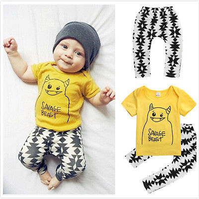 ac702a29e231 Wholesale New 2016 2pcs Newborn Toddler Infant Kids Baby Boy Clothes ...