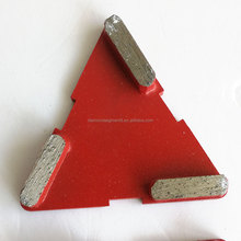 ChinShine triangle metal bond diamond grinding plate for concrete floor and stone
