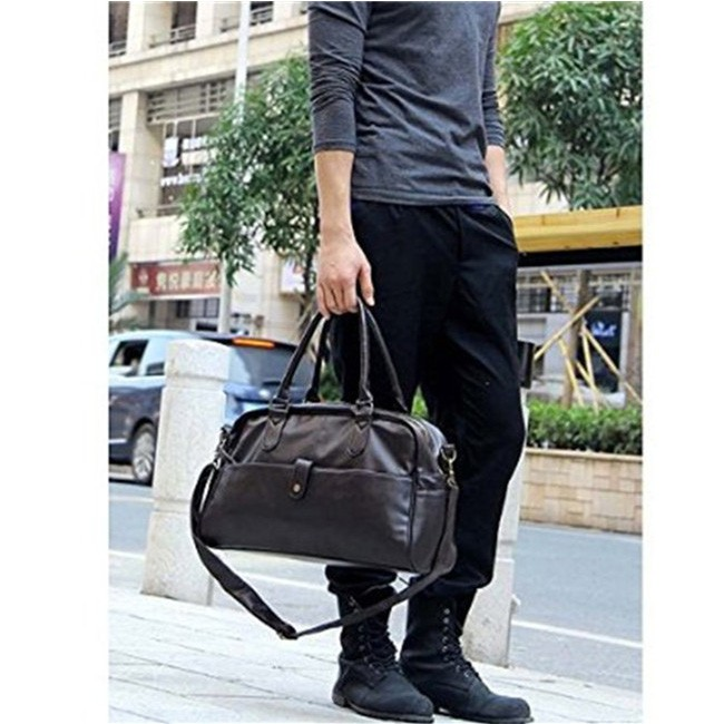 Buy chinese products online Foldable Outdoor handbag mens travel leather duffle bag