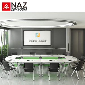 Modular modern folding conference table wooden specifications for meeting room