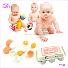 Kid Play Toy Set Wooden Eggs Kitchen Food Wooden Toys Preschool Educational Kid Toy