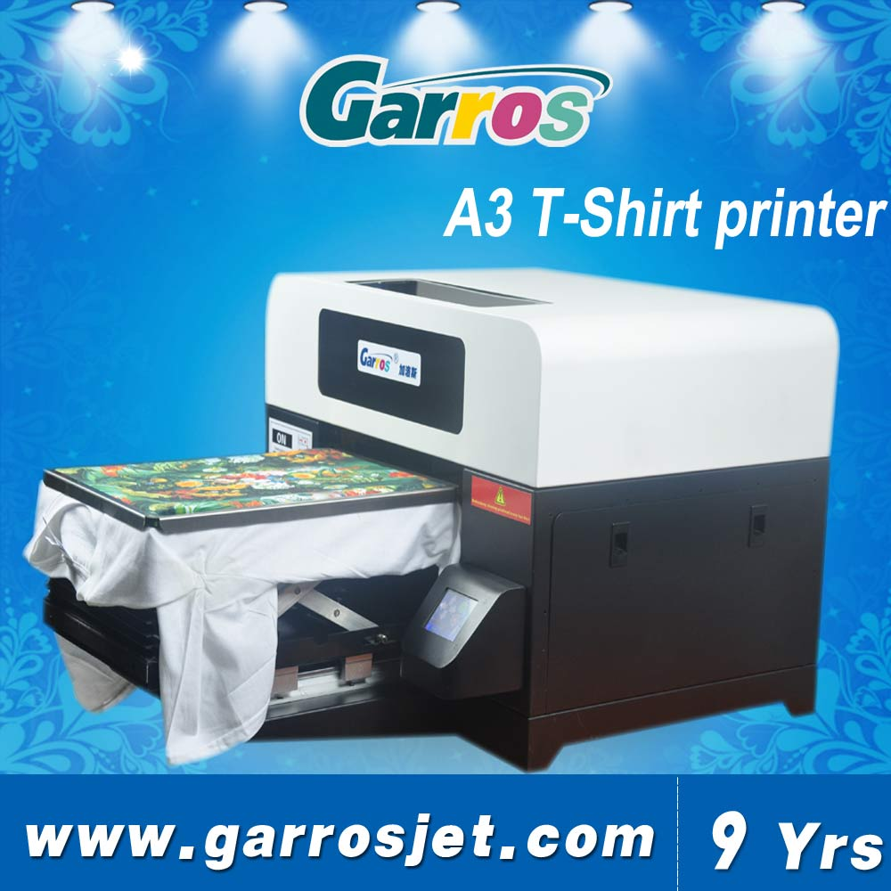 China best quality cheapest price of A3 size t-shirt textile fabric printer