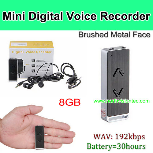 mini metal case digital recording device