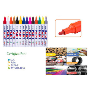 Paint Marker Pen for car tyre repair glass marking indelible ink paint pen