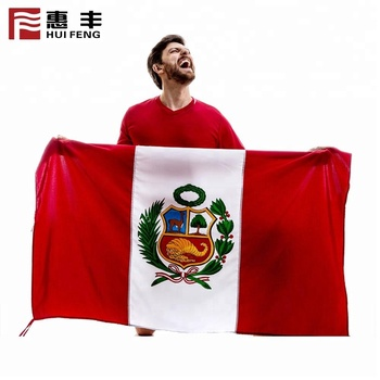 World football big flag for world cup russia ,popular style red flag