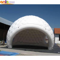 Factory sale OEM PVC tarpaulin bubble inflatable igloo tent for golf ball shape