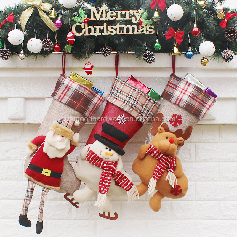 Wholesale Christmas tree pendant Santa Claus socks new Christmas supplies Christmas gift ornaments
