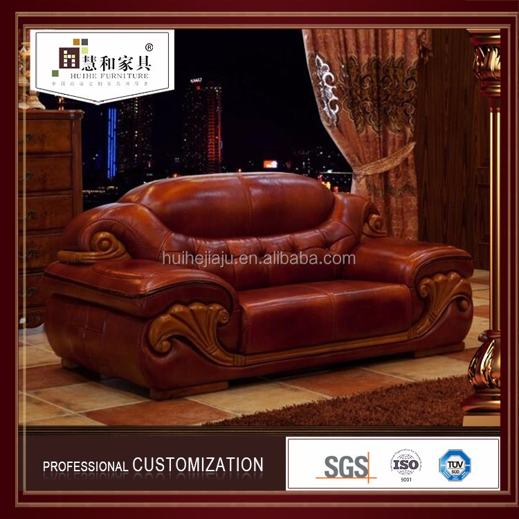 Custom Chesterfield Red Leather Sofa