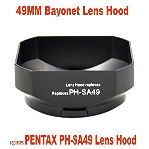 RinbowImaging Lens Hood for PENTAX-DX 35mm F2.4 AL, FA 50mm F1.4, FA 50mm F1.7, F 50mm F1.4, F 50mm F1.7, A 50mm F1.4, A 50mm F1.7, A 50mm F2.0, replaces PENTAX PH-SA49