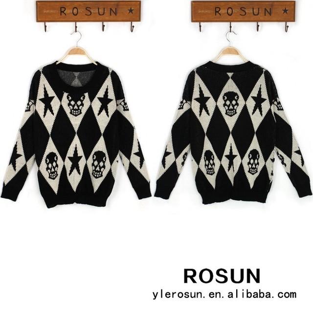 Promoción intarsia suéter patrón, Compras online de ...