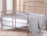 Silver Color Metal Double Bed Bedroom Furniture