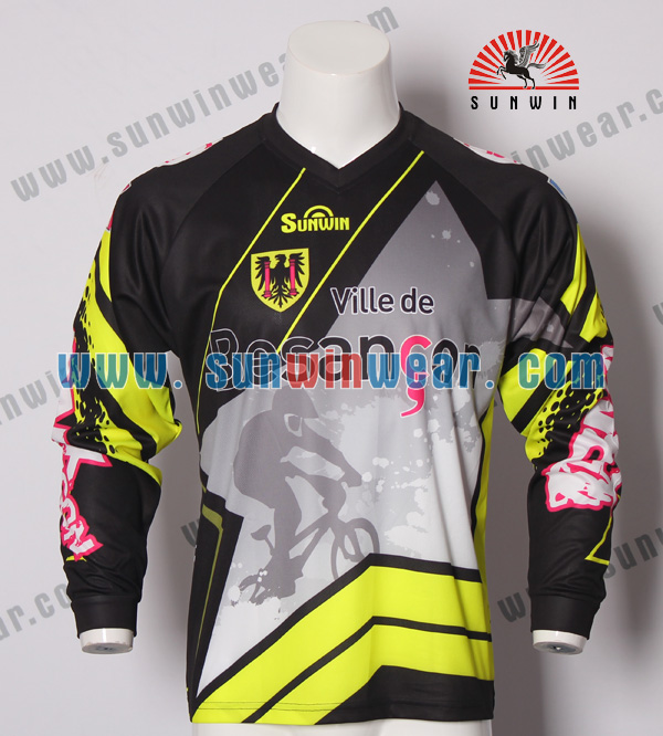 Wholesale Mens Long Sleeve Custom Bmx Downhill Jersey - Buy Custom ... c58dd5707
