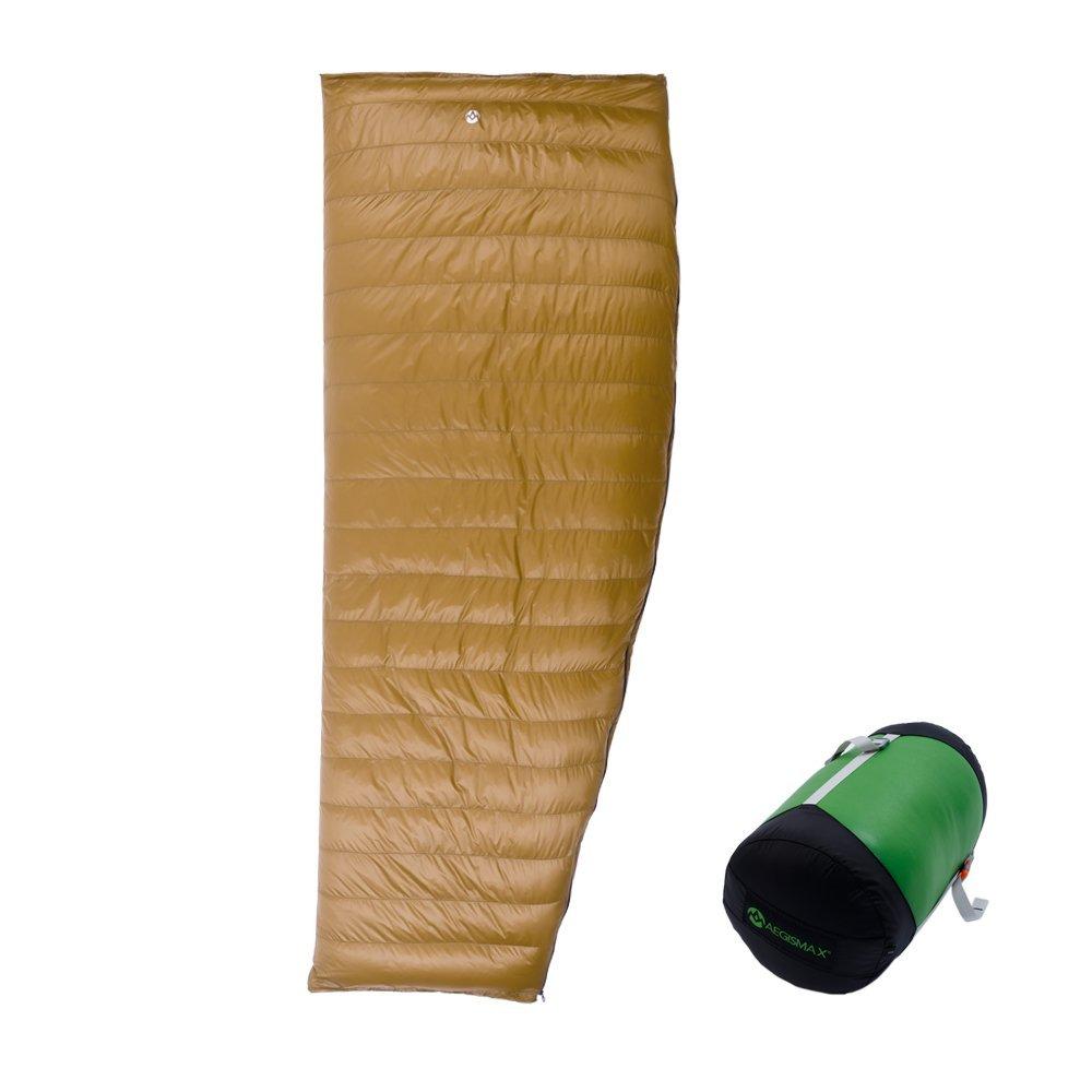 AEGISMAX Outdoor Camping Light 95% Goose Down Envelope Sleeping Bag Three-Season Down Lengthened Adult Nylon Spring Sleeping Bag
