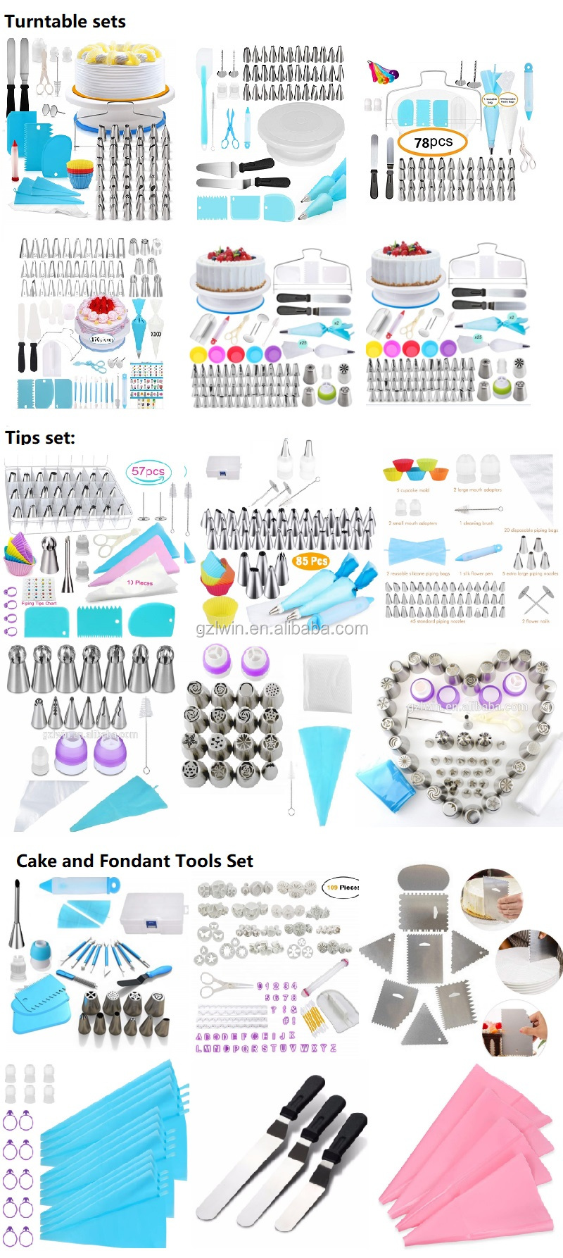hot sales cake decorating supplies kit / cake decorating turntable / cake turntable set