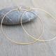 Gold Hoops Big Wire Earrings Gold Filled Hoops Simple Hoop Earrings