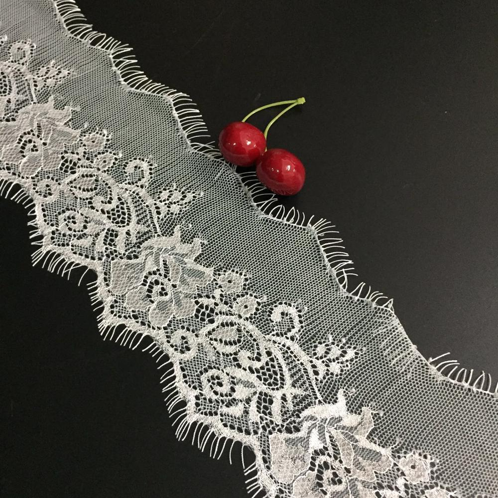 Eyelash Lace Trimming Hot Sale Fashion Nylon Bridal Off White Lace Trim