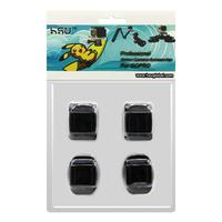 4 PCS Action Camera Accessories Helmet Sticker Mount Flat and Curved Adhesive Sticker for Go Pro