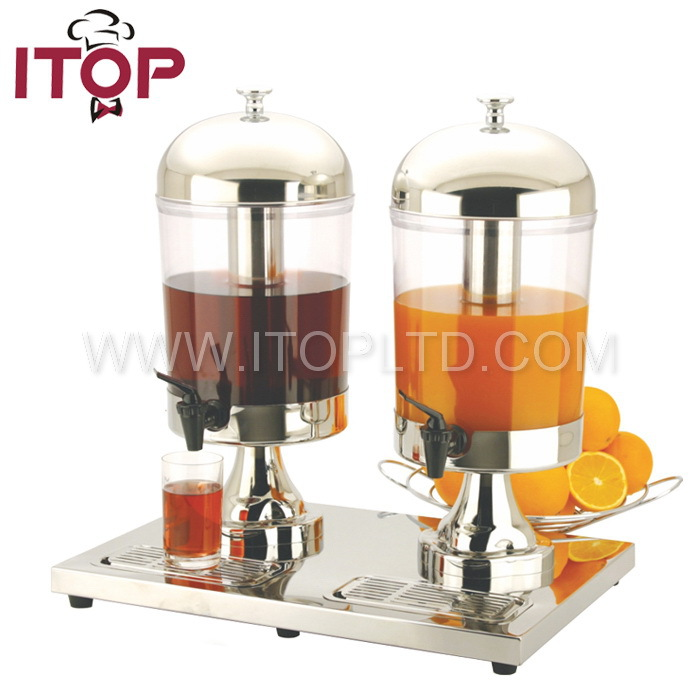 Newly Stainless Steel Double Head Juice Dispenser