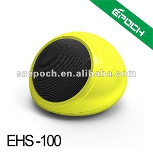 2012 new yellow tf micro sd music player fm radio usb mini speaker