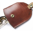 Multifunctional Leather Key Cover Key Organizer Key Pouch with Access Control Chip