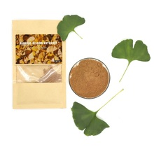 health supplement dried ginkgo biloba leaves organic herbal extract