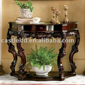 Carved Curved Console,wood Console,console Table