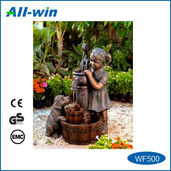 beautiful garden water fountain with LED light, resin water fountain with CE, GS & EMC