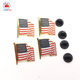 custom metal die stamping american flag lapel pin with rubber clutch