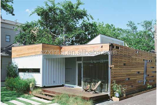 Modulaire luxueux contenant en bois maison maison de for Maison conteneur 40 pieds