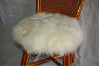 Top Quality Genuine 100% round shape Sheepskin seat cushion Australian Wool Cushion